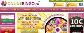 Page d'accueil Online Bingo